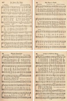 30 FREE printable vintage hymns sheet music, including 10 from The American Hymnal. Perfect for DIY craft projects, wall art, ornaments, and choir books. Sheet Music Crafts, Old Sheet Music, Digital Sheet Music, Free Sheet Music, Vintage Sheet Music, Vintage Sheets, Free Printable Sheet Music, Free Printable Art, Printable Paper