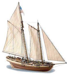 """Virginia"". wooden planked ship model"