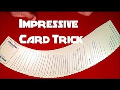 This trick is really cool - it's effective, easy and requires no preparation so its completely impromptu. Tutorial below shows you everything you need to be able to perform it so there is nothing else to do then start learning! Easy Card Tricks, Easy Magic Tricks, Card Shuffling Tricks, Card Tricks Revealed, Learn Magic, Teaching, Fun Stuff, Cards, Random