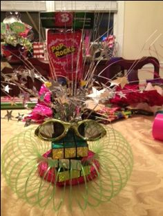 Small centerpiece for 80s party