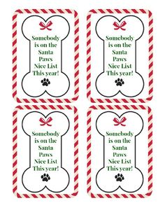 Cats Toys Ideas - Free Printable DIY Dog Treat Gift Tag - Ideal toys for small cats Diy Dog Gifts, Diy Dog Treats, Homemade Dog Treats, Gifts For Dogs, Doggie Treats, Christmas Treats For Gifts, Christmas Gift Tags, Christmas Dog, Xmas