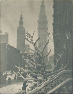 Two Towers - New York Alfred Stieglitz (American, Hoboken, New Jersey New York) Date: printed in or before 1913 Medium: Photogravure Alfred Stieglitz, Edward Steichen, York Art Gallery, Summer Vacation Spots, San Francisco Museums, Photocollage, New York Art, Lake George, Famous Photographers