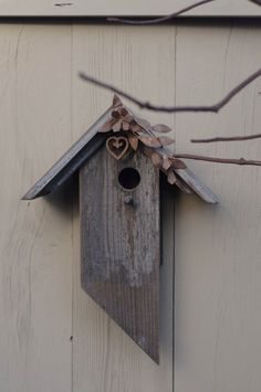 FREE SHIPPING IN THE US!!!!Metal and Barn Wood Birdhouse by BirdCreekMercantile on Etsy