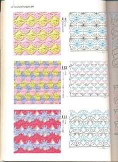 Crochet patterns - for your collection)) / Crochet / Crochet for beginners Crochet Diagram, Crochet Chart, Crochet Motif, Free Crochet, Knit Crochet, Crochet Stitches Patterns, Crochet Designs, Knitting Stitches, Stitch Patterns