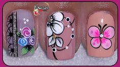 Flower Nail Designs, Nail Art Designs, J Nails, Merry Christmas Gif, Colorful Nail Art, Flower Nails, Manicure And Pedicure, Nails Inspiration, Pretty Nails