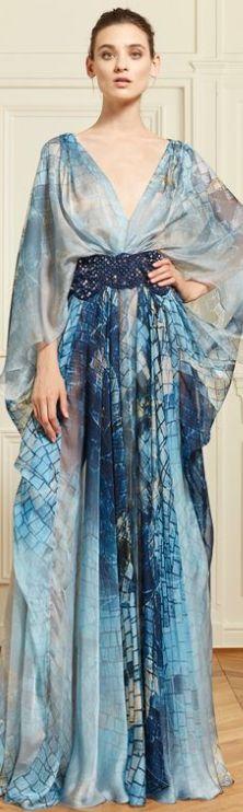 Vestido estampado fluído Zuhair Murad Resort 2014