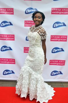 She Used 10 Mega Rolls Of Charmin Ultra Soft The Annual Toilet Paper Wedding Dress Contest Presented By