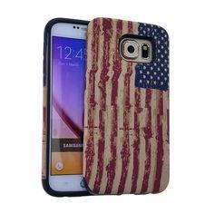 MYVI Slim Cover Case + Screen Protector for Samsung Galaxy S6 American Flag #KoolKaseRocker