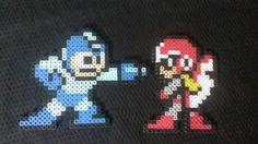 Megaman and Protoman pixel art bead sprites Pick by MelParadise