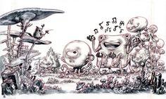 """""""Species"""" - Illustration 5, choeur de monstres 1"""