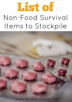List of Non-Food Survival Items to Stockpile for emergency preparedness. sorry to break it to you: stockpiling food isn't going to be enough to get you through a long-term disaster. Here is a list of non-food items you will also need to stockpile. #survivalitems #emergencysupplies #shtf #disasterpreaparedness #survivalkit