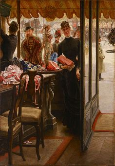 James Tissot (French, 1836–1902)  The Shop Girl