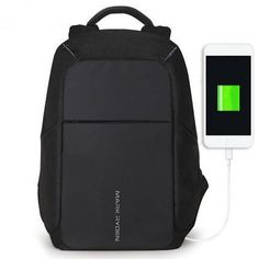Anti Theft USB Charging 15inch Laptop Backpack c6f0d5819e623