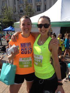 Megan Collins of Style Girlfriend, after the Nike Women's Half Marathon in Washington, DC 2013