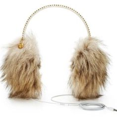 Juicy Couture Fur Headphone Ear Muffs ADORABLE Juicy Couture Fur Headphone Ear Muffs ADORABLE! These are the cutest thing ever! They have built in headphones (with adjustable volume control). The headphones can be removed if you want to use them just as ear muffs. Gorgeous gold rhinestones along headband and small charm attached over one muff. Perfect condition. MAKE ME AN OFFER! Juicy Couture Accessories Hats