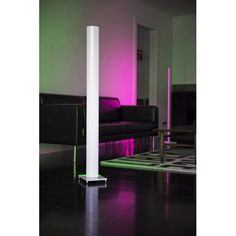 The Tono Floor Lamp gives you every light color option you can imagine. Turn on the white color mode and choose between warm or cool light to brighten up your living space with a soft, diffused glow. Switch to the color mode to splash any desirable color onto your wall or furniture. Turn on the color shuffle mode and let a rainbow of colors dance freely around your room at an adjustable speed.