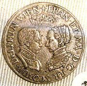 A coin of Mary, Queen of Scots, and her first husband, Francis II of France by lisby1, via Flickr