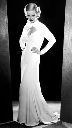 Famous Cut-Outs In Fashion Through the Years - Bette Davis, 1933 from #InStyle