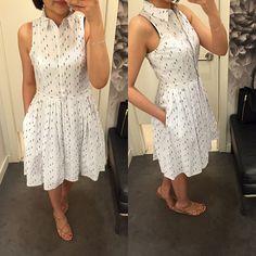 @anntaylorstyle Clipdot Pleated Shirtdress, size 0P Casual Frocks, Casual Dresses, Short Dresses, Dresses Dresses, Kurta Designs Women, Blouse Designs, Frock Fashion, Fashion Dresses, Indigo Dress