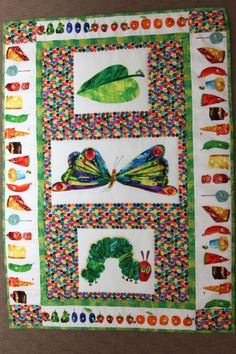 Hungry Caterpillar Baby Quilt Kit | ... bit of quilting yes it s been a while between quilts but i decided