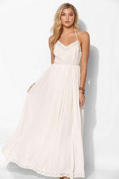 Kimchi Blue Dove Crinkle Gauze Maxi Dress - Urban Outfitters-- Hello pretend future wedding dress.