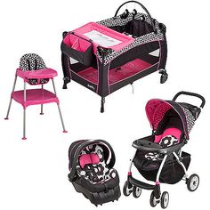 Evenflo Marianna Collection Baby Gear Bundle - - Product Description: Get contemporary baby style and convenience with the Evenflo Portable BabySuite Designed as a fully functional Evenfl Walmart Baby Car Seats, Baby Doll Nursery, Baby Dolls, Girl Nursery, Baby Needs, Baby Love, Baby Baby, Car Seat And Stroller, Everything Baby