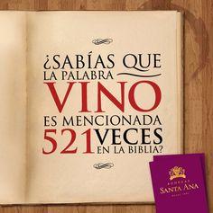 Curioso.¿Sabías que la palabra #vino es mencionada 521 veces en la biblia? pinned with Pinvolve