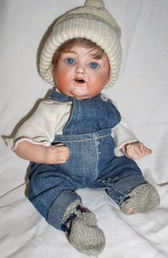"""Early Nippon 12"""" Character Boy Baby Doll from cali4nigrl on Ruby Lane"""