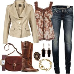 brown outfit style