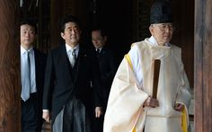 Japanese Prime Minister Shinzo Abe visits the controversial Yasukuni war shrine in Tokyo