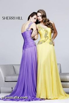yellow prom dress by sherri hill