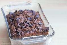 Low-fat, low-calorie, dairy-free, egg-free, and NO refined sugar! With two full cups of banana in the recipe, lowering the fat without sacrificing flavor: http://chocolatecoveredkatie.com/2015/04/06/dark-chocolate-banana-bread/