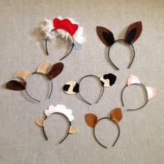 7 Barnyard farm animals theme ears headband birthday by Partyears                                                                                                                                                                                 Mais