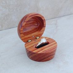 Wooden ring box! Very cool.