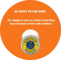 50. Apply #shea butter to ears during the winter when they burn because of the cold weather. #loccitane #springlove
