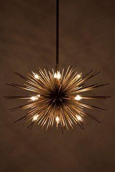Astra Chandelier - modern LED starburst pendant or chandelier Unique Lighting, Industrial Lighting, Interior Lighting, Home Lighting, Industrial Loft, Entrance Lighting, Industrial Bookshelf, Industrial Windows, Lighting Stores