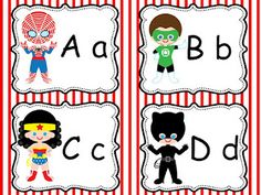 no way-- superhero alphabet cards freebie LOL