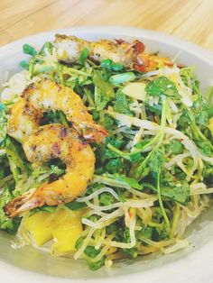 Thai salad with grilled shrimp at H.S. Green | Adventures in a New(ish) City #houston #texas #food #foodblogger #newishcityHOU