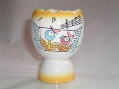 Vintage Porcelain Egg Cup with  Singing Birds on Etsy, $16.90 CAD