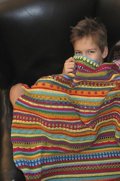 Great mixed stripe blanket!