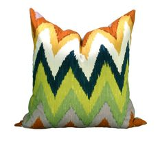 Schumacher Adras ikat pillow cover in Caravan  ON by sparkmodern, $115.00
