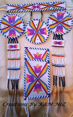 Order Your Adult-Teen Parfleche Hair ties by CreationsByKMnez