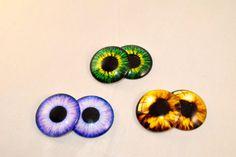 Ojos realistas #pupilas de 35 mm para customizar #muñecas por #YBatchi #blythe #basaak #eyes