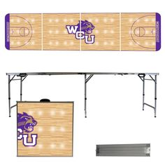 West Carolina University Catamounts 8 Foot Portable Tailgate and Pong Table