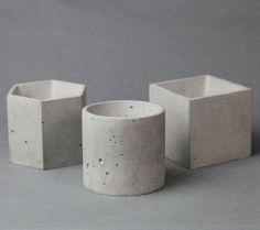 方形水泥花器