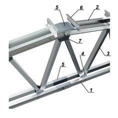 Третий узел ЛСТК (стропильная ферма) Steel Trusses, Roof Trusses, Steel Structure Buildings, Metal Structure, Steel Frame House, Steel House, Steel Frame Construction, Construction Design, Minimalist Room Design