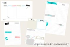 Blog planners - Freebie | DIY, talleres, slow products
