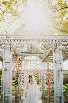this archway minus the pink Outdoor Ceremony, Wedding Ceremony, Wedding Venues, Wedding Day, Cute Wedding Dress, Floral Wedding, Wedding Dresses, Garden Weddings, Garden Party Wedding