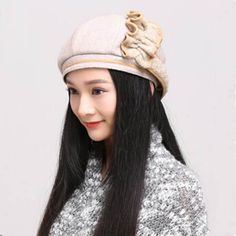 Irregular flower beret hat for women fashion warm winter hats