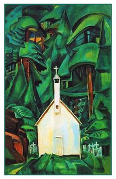 Emily Carr Indian Church 1929 oil on canvas, located in Art Gallery of Ontario Tom Thomson, Canadian Painters, Canadian Artists, Emily Carr Paintings, Dulwich Picture Gallery, Canada Landscape, Art Gallery Of Ontario, Group Of Seven, Post Impressionism